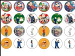 24 x American Dad Edible Rice Wafer Paper Cupcake Toppers